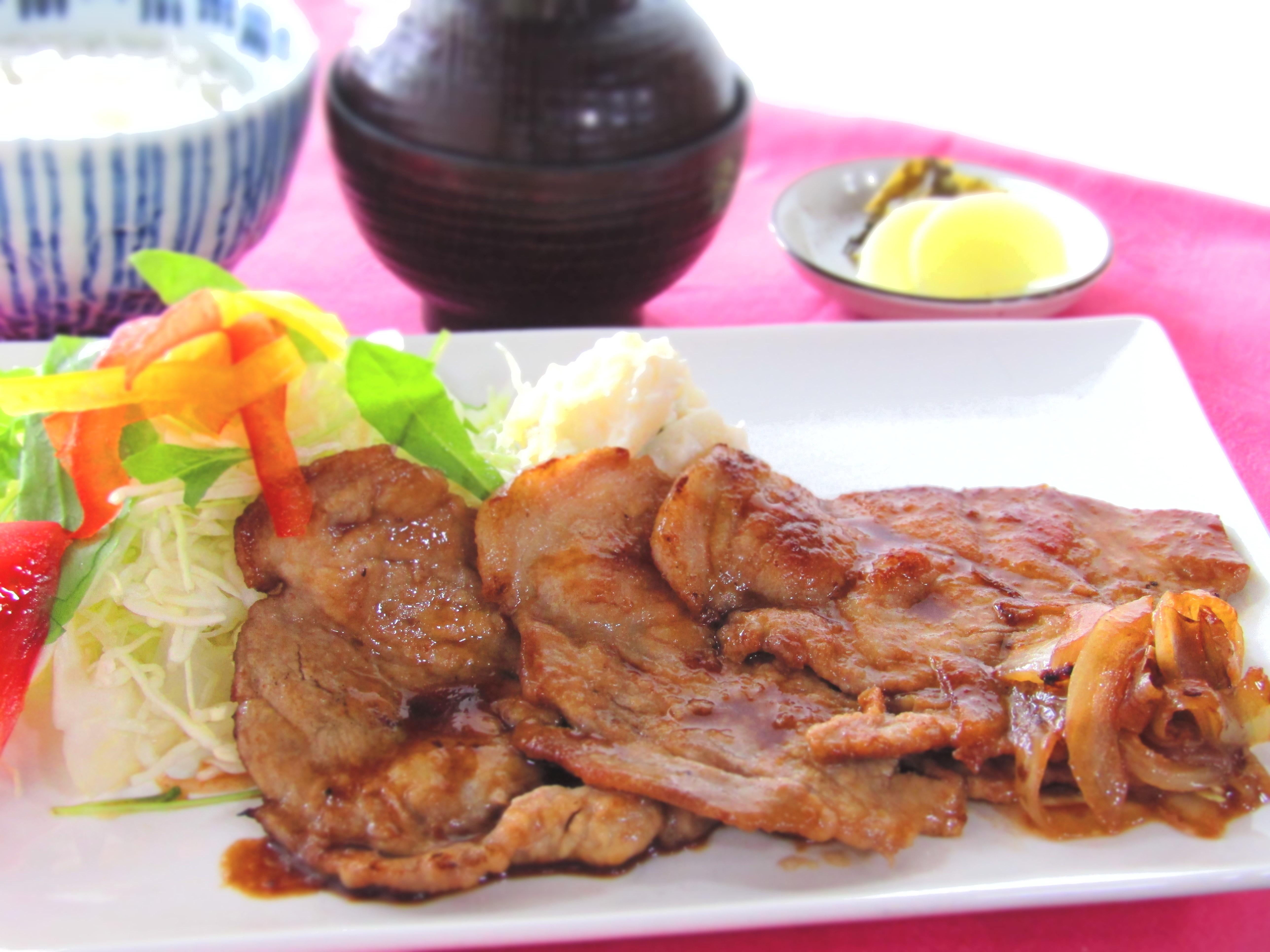 四元豚 生姜焼